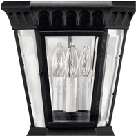 Hinkley 1707BK Camelot 3 Light 26 inch Black Outdoor Post Mount, Post Sold Separately alternative photo thumbnail