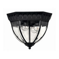 Hinkley Lighting Camelot 3 Light Outdoor Flush Lantern in Black 1712BK