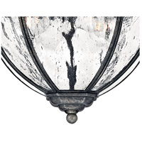 Hinkley 1713BG Regal 4 Light 12 inch Black Granite Outdoor Flush Mount alternative photo thumbnail