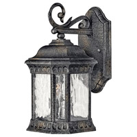 Regal 2 Light 13 inch Black Granite Outdoor Wall Lantern