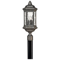 Hinkley 1721BG Regal 3 Light 23 inch Black Granite Post Lantern, Post Sold Separately