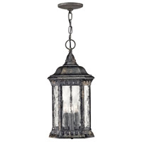 Regal 3 Light 9 inch Black Granite Outdoor Hanging Light