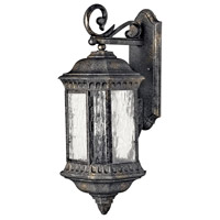 Regal 3 Light 24 inch Black Granite Outdoor Wall Lantern