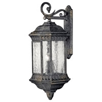 Regal 4 Light 32 inch Black Granite Outdoor Wall Lantern