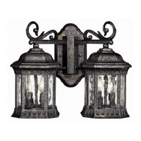 Hinkley Lighting Regal 4 Light Outdoor Wall Lantern in Black Granite 1729BG photo thumbnail