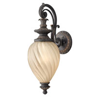 Hinkley Lighting Montreal 1 Light GU24 CFL Outdoor Wall in Aged Iron 1734AI-GU24