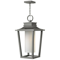 Hinkley 1742HE Sullivan 1 Light 12 inch Hematite Outdoor Hanging Lantern