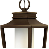 Hinkley 1742OZ-LED Sullivan LED 12 inch Oil Rubbed Bronze Outdoor Hanging Lantern, Etched Opal Glass alternative photo thumbnail