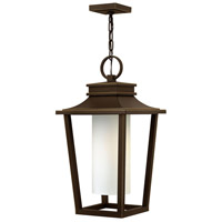 Hinkley Lighting Sullivan 1 Light Outdoor Hanging Lantern in Oil Rubbed Bronze with Etched Opal Glass 1742OZ