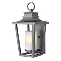 Hinkley 1744HE-GU24 Sullivan 1 Light 18 inch Hematite Outdoor Wall in GU24, Etched Opal Glass