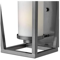 Hinkley 1744HE-LED Sullivan LED 18 inch Hematite Outdoor Wall Mount, Etched Opal Glass alternative photo thumbnail