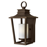 Sullivan 1 Light 18 inch Oil Rubbed Bronze Outdoor Wall Lantern in LED, Etched Opal Glass