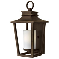 Hinkley 1744OZ Sullivan 1 Light 18 inch Oil Rubbed Bronze Outdoor Wall Lantern in Incandescent, Etched Opal Glass