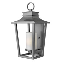 Hinkley 1745HE-GU24 Sullivan 1 Light 23 inch Hematite Outdoor Wall in GU24, Etched Opal Glass