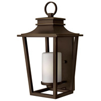 Hinkley 1745OZ Sullivan 1 Light 23 inch Oil Rubbed Bronze Outdoor Wall Mount in Incandescent, Etched Opal Glass