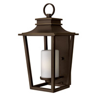 Hinkley Lighting Sullivan 1 Light Outdoor Wall Lantern in Oil Rubbed Bronze with Etched Opal Glass 1745OZ-GU24