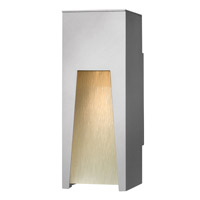 Hinkley 1760TT-LED Kube 1 Light 12 inch Titanium Outdoor Wall in Clear Etched Organic Rain, LED