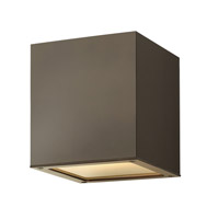 Hinkley Lighting Kube 1 Light Outdoor Ceiling Lantern in Bronze 1763BZ-LED