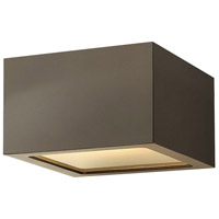Hinkley 1765BZ Kube LED 6 inch Bronze Outdoor Flush Mount