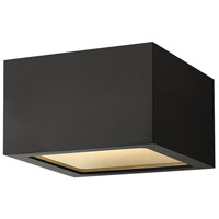 Hinkley 1765SK Kube LED 6 inch Satin Black Outdoor Flush Mount