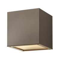 Hinkley Lighting Kube 1 Light Outdoor Wall Lantern in Bronze 1766BZ-LED