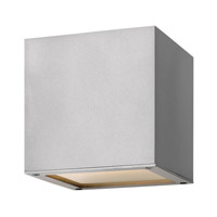 Hinkley Lighting Kube 1 Light GU24 CFL Outdoor Wall in Titanium 1766TT-GU24
