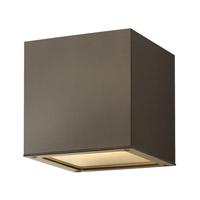 Hinkley Lighting Kube 1 Light GU24 CFL Outdoor Wall in Bronze 1767BZ-GU24 photo thumbnail
