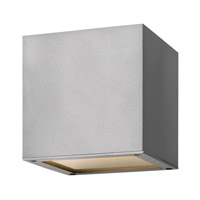 Hinkley Lighting Kube 1 Light GU24 CFL Outdoor Wall in Titanium 1767TT-GU24