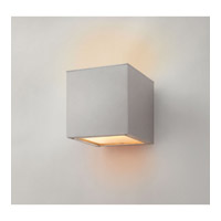 Hinkley Lighting Kube 1 Light Outdoor Wall Lantern in Satin White 1767SW alternative photo thumbnail