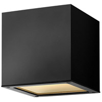 Hinkley 1768SK Kube LED 6 inch Satin Black Outdoor Wall Mount, Small