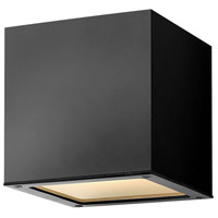 Kube LED 6 inch Satin Black Outdoor Wall Sconce, Small