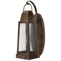 Hinkley 1770SN Sedgwick 1 Light 15 inch Sienna Outdoor Wall Mount, Clear Seedy Glass
