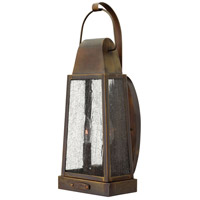 Hinkley 1774SN Sedgwick 2 Light 20 inch Sienna Outdoor Wall Mount, Clear Seedy Glass