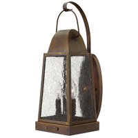 Hinkley 1775SN Sedgwick 3 Light 20 inch Sienna Outdoor Wall Lantern, Clear Seedy Glass