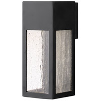 Rook 1 Light 12 inch Satin Black Outdoor Wall Mount