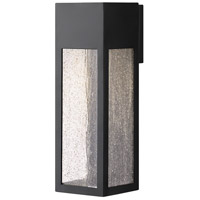 Rook 1 Light 15 inch Satin Black Outdoor Wall Mount