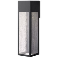Hinkley 1788SK Rook 1 Light 20 inch Satin Black Outdoor Wall Mount in GU10