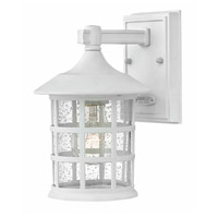 Freeport 1 Light 9 inch Classic White Outdoor Wall Mount in GU24, Clear Seedy