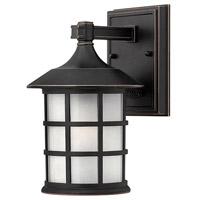 Freeport 1 Light 9 inch Olde Penny Outdoor Wall in Etched Seedy, LED, Clear Seedy Glass