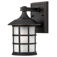 Freeport 1 Light 9 inch Olde Penny Outdoor Wall Lantern in Etched Seedy, Incandescent