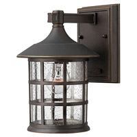 Freeport 1 Light 9 inch Oil Rubbed Bronze Outdoor Wall Lantern in Clear Seedy, Incandescent