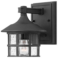Hinkley 1800BK Freeport 1 Light 9 inch Black Outdoor Wall Mount in Incandescent, Clear Seedy Glass alternative photo thumbnail