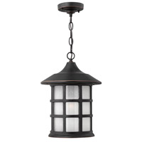Hinkley 1802OP-GU24 Freeport 1 Light 10 inch Olde Penny Outdoor Hanging in Etched Seedy, GU24, Clear Seedy Glass