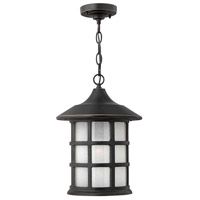 Freeport LED 10 inch Olde Penny Outdoor Hanging Lantern in Etched Seedy
