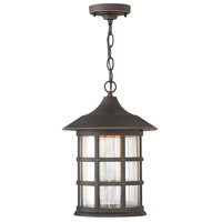 Freeport LED 10 inch Oil Rubbed Bronze Outdoor Hanging Lantern in Clear Seedy