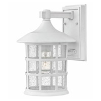 Freeport 1 Light 12 inch Classic White Outdoor Wall Mount in GU24, Clear Seedy