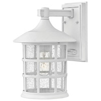 Freeport 1 Light 12 inch Classic White Outdoor Wall Mount in Incandescent, Clear Seedy
