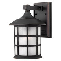 Hinkley 1804OP-GU24 Freeport 1 Light 12 inch Olde Penny Outdoor Wall in Etched Seedy, GU24, Clear Seedy Glass