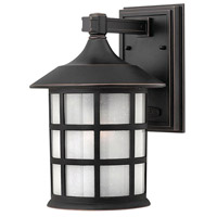 Freeport LED 12 inch Olde Penny Outdoor Wall Lantern in Etched Seedy