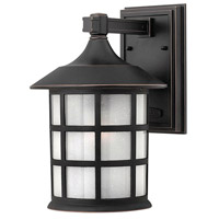Freeport 1 Light 12 inch Olde Penny Outdoor Wall Lantern in Etched Seedy, Incandescent